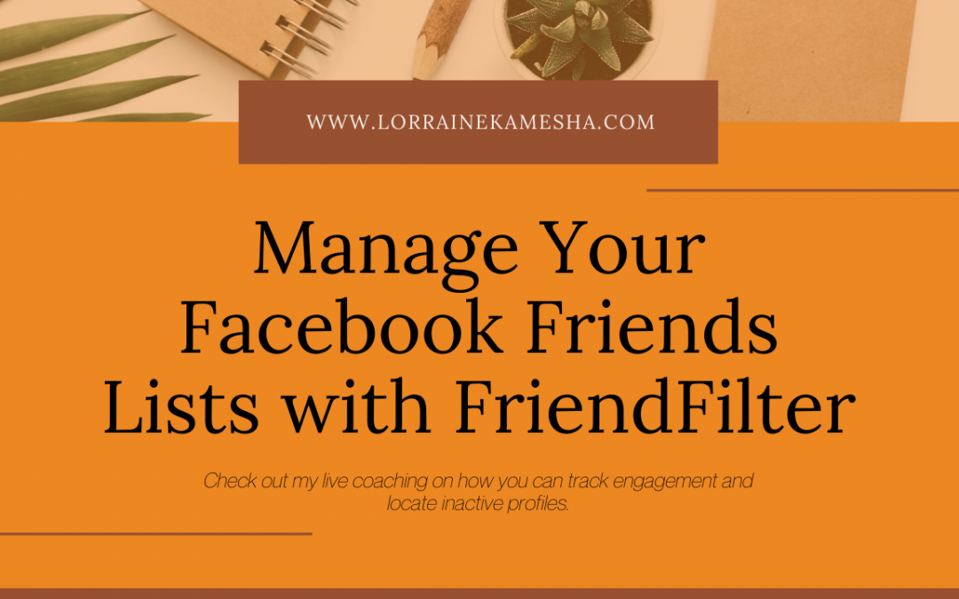 Manage your Facebook Friends List with FriendFilter